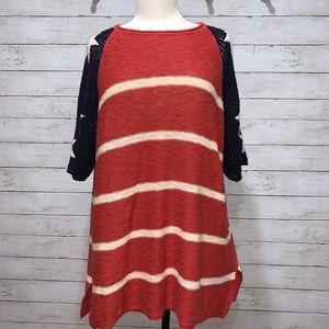 Easel Americana Knit Top